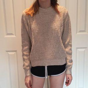Tan knit sweater
